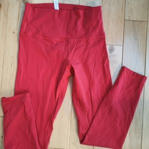 Lululemon bright red wounder unders
